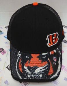 Cincinnati Bengals Women's New Era 9FORTY Sequin Trucker Cap Hat