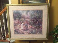 "Print 36""x39"" ""Victorian Garden"" signed Barbara Mock.C12pics4size/etc.MAKE OFFER"