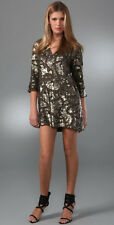 "ANTIK BATIK OLIVE GREEN BEADED ""POPI"" PARTY DRESS 38 S SMALL"