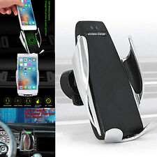 Automatic Clamping Wireless Car Charger Mount Air Vent Phone Holder iOS Android