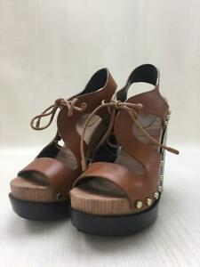 BALENCIAGA Side Studded With Leather 38  Size 38 Brown Sandal 169 From Japan