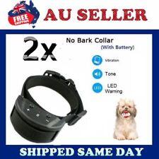 2 X 2018 New Auto VIBRATION Anti Stop Barking Dog Collar Safe Training NO SHOCK