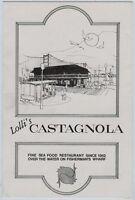 "Older Menu - San Francisco - Lolli's Castagnola - California 8 1/2"" x 5 3/4"""