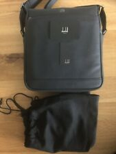 ALFRED DUNHILL MESSENGER BAG NORTH SOUTH £375TRAVELLER BLACK LEATHER NEW WITH ID