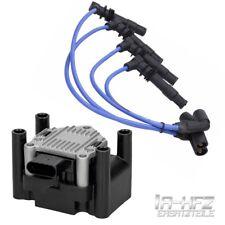 Bobina de encendido + 4 cables de ignición VW Bora 1.4 1.6 Caddy 2 1.4 Golf 4 1J