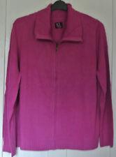 New womans zipper cardigan raspberry size 24