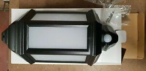KERRY 7W LED Half Lantern with PIR IP44 Black 4000K - RKE00740PIR-04