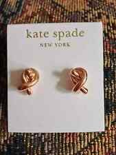 Kate Spade Statement Rose Gold Knot Stud Earring So Cute On!