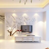 3D Tree Mirror Acrylic Wall Stickers Living Room TV Sofa Background DIY Decals