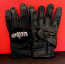 TACTICAL GLOVES WITH HARD KNUCKLES DURABLE GOATSKIN LEATHER - MEDIUM