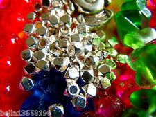 Schicke kleine versilberte Facetten-Perlen- 2x3mm- 30Stk.-schimmernd hell-