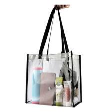 Women Transparent  Clear Handbag Tote PVC Shoulder Bag Crossbody Bag Fashion