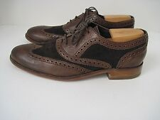 Cole Haan Nke Air Men's Brown Leather Suede Wingtip Lace Up Oxfords Size 9M