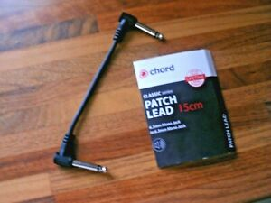 GUITAR PATCH LEAD/CABLE FOR EFFECTS PEDALS SINGLE BLACK (5-5.5 INCHES - 0.14M)