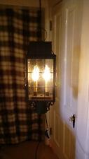 Antique Primitive Style Outdoor Lamp post Lantern Style Electric Light Fixture