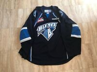 Saskatoon Blades Authentic Team Issued Road Blue Jersey WHL CHL MIC Reebok 56