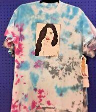 Turquoise FuchsiaTie Dye Vintage Hippie Large T Shirt Pop Art Roy Lichtenstein