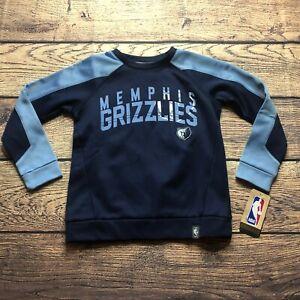 NBA Kids Boys Large 7 Memphis Grizzlies Pullover Sweatshirt Tek Warm NEW