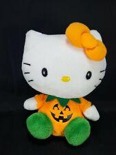 "Hello kitty Halloween Orange Pumpkin Plush Stuffed Animal Toy Sanrio Soft 6"""