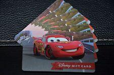 NEW 2016 Walt Disney World Gift Card Cars Lightning McQueen Racing the World WDW