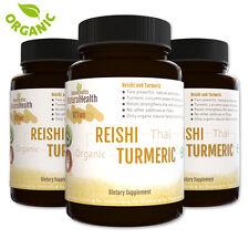 270 Capsules: Curcumin Turmeric & Reishi Ling Zhi Antiinflammatory Immune System
