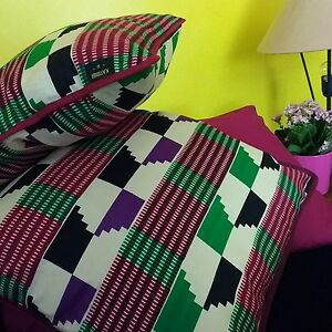 Home Decor Handmade Cotton Cushion Pillow Covers African Print Wax 45x45cm Gift