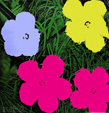 Andy WARHOL FLOWERS 1970 Official Authorized Offset Lithograph 38 x 38