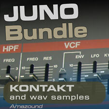 JUNO-106 JUNO-60 JUNO-6 JUNO-ALPHA KONTAKT BUNDLE 299 NKI + 2527 WAV SAMPLES 2GB
