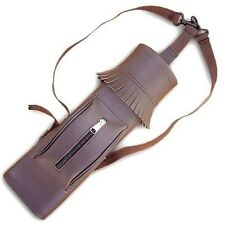 SYNTHETIC LEATHER BACK ARROW QUIVER SAQ140 BROWN