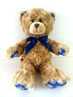 "Build A Bear Chicago Cubs Plush 12"" Tan Bear w Ribbon"