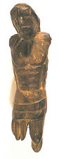 """CHRIST Carved WOOD FIGURE Colonial PERU w/o Arms, Lower Legs 6.5""""h PPD-USA"""