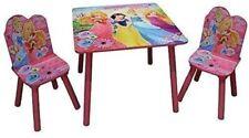 DISNEY PRINCESS WOODEN TABLE & CHAIRS GIRLS PINK FURNITURE SET