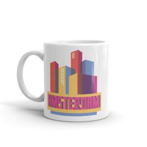 Modern Amsterdam City Mug - The Netherlands Travel Gift Europe EU #10330