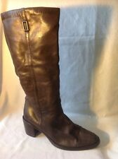Nine West Brown Knee High Leather Boots Size 41