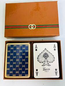 Gucci sealed logo playing card set in box