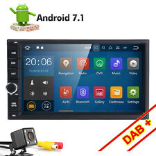 "Android 7.1 4G WIFI 7"" Double DIN Car Radio Stereo No-DVD Player GPS Nav HD DAB+"
