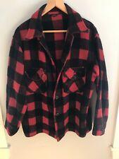 Mens Vintage Wool Red Plaid Hunting Jacket Size M