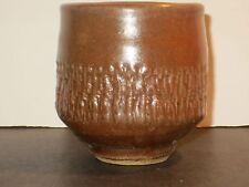 Warren Mackenzie Yunomi Tea Cup With Impressed Decoration, Marked