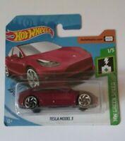 Tesla Model 3 Hot Wheels 2019 Hw Green Speed 1/5 Mattel