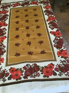 Vintage Damask Table Cloth. Bold Floral And Paisley.