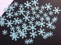 150 birthday snowflake card confetti table party decorations frozen ice blue
