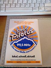 ADESIVO VINTAGE STICKER kleber radio pilatus 99,5 mhz