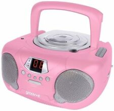Groov-e Boombox GV-PS713-PK Portable CD Player with Radio - Pink