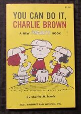 1967 YOU CAN DO IT CHARLIE BROWN by Charles M Schulz SC FVF 6th Holt Reinhart