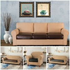 PU Leather Waterproof Sofa Seat Cushion Cover Chair Couch Full Slipcovers