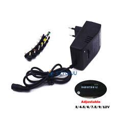 Universal 3V 4 5V 6V  9V 12V AC/DC Adapter Power Supply  EU For Household 30W