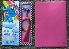 HALLMARK INNOVATIONS MY LITTLE PONY TAIL HAIR EXTENSION BIRTHDAY GREETING CARD