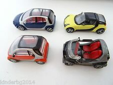 SMARTS COLLECTION MODEL SMART CARS SET 1:64 KINDER MINIATURES 2004 C-137-140