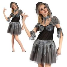 Gothic Bride Costume Zombie Halloween Horror Fancy Dress Outfit Womens Ladies