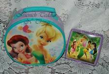 TUPPERWARE  DISNEY TINKERBELL & FAIRIES SANDWICH KEEPER & ROUND LUNCH BAG SET